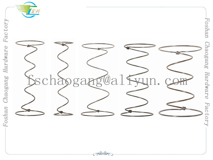 Steel Wire Mattress Spring Coil Hardware , Bonnell Upholstery Spring Units