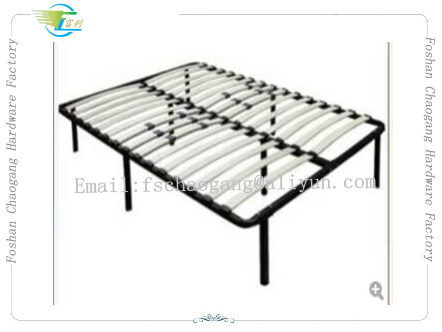 European Metal Slatted Bed Base , Reinforced Bed Frame With Birch Slatted